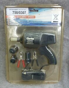 Clarke CIR13C 12v Impact Wrench with 17 19 21 23 Sockets New Unused