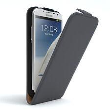 Tasche für Samsung Galaxy Note 2 Flip Case Schutz Hülle Cover Anthrazit