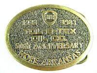 TOL-E-TEX Oil Co Brass Belt Buckle 50th Anniversary 1933-1983 Hope, AR