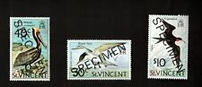 """St. Vincent-Grenadines Bird Hi-Vals, """"Specimen"""" Ovpt, NH, VF"""