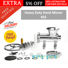 Heavy Duty Mincer Aluminium Manual Kitchen Fresh Meat Grinder Cast Iron # 32