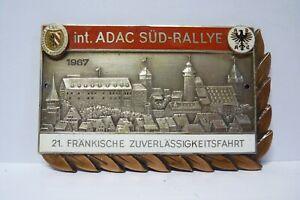 ADAC Auto Plakette 21. Fränkische Zuverlässigkeitsfahrt 1967 NAC Nürnberg