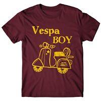 "T-SHIRT Uomo ""Vespa Boy"" - maglietta 100% cotone - BURGUNDY"