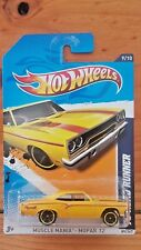 HOT WHEELS 2012 MUSCLE MANIA 9/10 '70 (PLYMOUTH) ROADRUNNER 89/247 YELLOW (A+/A)