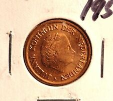 CIRCULATED 1954 5 CENT NETHERLANDS COIN (72216)1