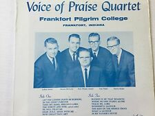 Voice of Praise Quartet Frankfort Pilgrim College Frankfort Indiana LP SEALED