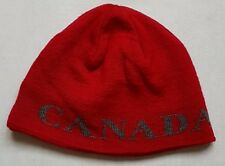 CANADA GOOSE Genuine HAT BEANIE SKULL CAP WOOL RED WINTER FITTED KNIT ONE SIZE