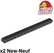 Lego Technic - 2x Liftarm 1x15 thick épais noir/black 32278 NEUF