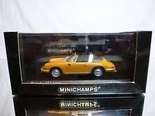 MINICHAMPS 61164 PORSCHE 911 TARGA 1965 - YELLOW 1:43 - EXCELLENT IN BOX