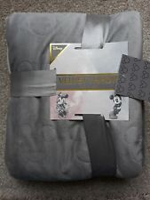 NEW DISNEY GREY Mickey Mouse Velvet Throw Blanket Marble Oslo Pinso Bedding
