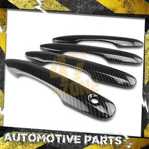 For 2018-2020 Toyota Camry Carbon Fiber Painted Door Handle Cover Overlays Trim