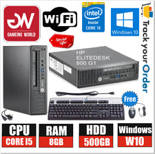 OFFER HP EliteDesk 800 G1 PC, i5-45705 CPU, 8GB RAM, 500GB HD, DVDRW, WiFi,Win10