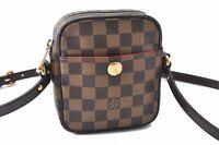 Authentic Louis Vuitton Damier Rift Shoulder Cross Body Bag N60009 LV B7656