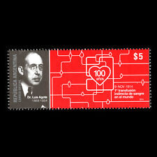 Argentina 2014 - 100th Anniv. of the First Blood Transfusion  - Sc 2753 MNH