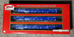 NOS ATLAS RTR THRALL 53' ARTICULATED WELL CAR PACER STACK TRAIN #BRAN 5568. U114