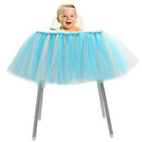 New Baby 1st Birthday High Chair Tutu Skirt Tulle Table Skirt Party Decoration