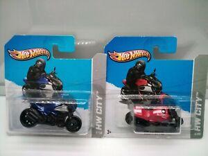 Hot Wheels / Ducati Diavel - Blue - Red - Model Motorbikes x2