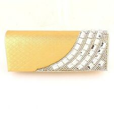 Charming Shell Evening Bag Clutch Gold Bag European Crystal Elements on Front