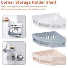 1*Traceless Plastic Bathroom Kitchen Corner Storage Rack Organizer Shower Shelf