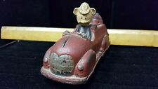 Vintage/Antique Sun Rubber Walt Disney Mickey Mouse Toy Firetruck,as found