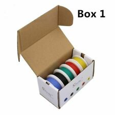 Flexible Silicone Wire Cable Colours Mix Package Electrical Copper Line DIY New