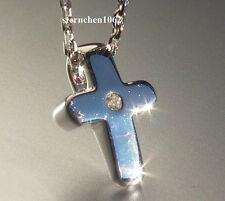 Viventy Halskette Kette mit Kreuz Anhänger * Silber * Zirkonia * 772292