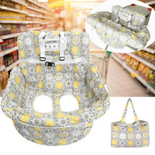 2 in 1 Foldable Baby Cart Seat Cover Protection Trolley Pad With Safety Belt