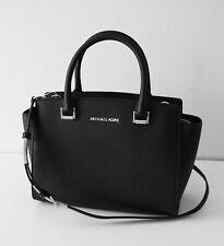 8e3290cfc1a64 MICHAEL KORS Tasche Bag SELMA Medium TZ Satchel Saffianoleder black silber