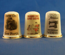 Birchcroft Thimbles -- Set of Three - Vintage Advertising Posters - Sewing