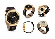 Huawei Smart Watch Elite Gold Plated Stainless Steel, Brown Suture Leather Strap