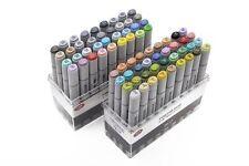 72 Pcs Artist Sketch Markers Broad and Fine Nibs Mark Pen Copic Design Basic Set