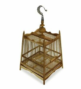 Thai Bamboo Bird Cage, 24cm x 32cm, or Light fitting, lampshade