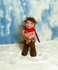 OOAK 1:12 Dollhouse Miniature Faun Child Satyr Elf Fae Fairy Doll Dwarf Handmade