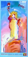 PETER MAX POSTER - blue LIBERTY-COOL AND COLORFUL-PRINT SIGNED CT#69