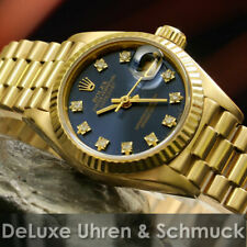 🎀 * Rolex Datejust * ref. 69178*750er oro * azul diamante esfera * Rolex box * Top