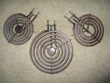 "New listing 3 Stove Top Range burners 6"" + 8 inch coil Heating elements element lot Q161843"