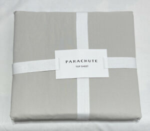 PARACHUTE Top Sheet Percale in Sand Size: Full / Queen FLTPERYSTQUE 100% Cotton