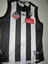 COLLINGWOOD- DAYNE BEAMS SIGNED 2010 PREMIERS JERSEY UNFRAMED + PHOTO PROOF