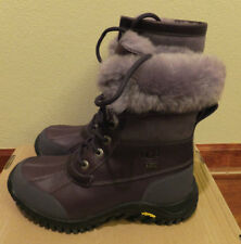 6 UGG Womens Blackberry Wine Leather Adirondack II Boots Waterproof fit youth 4