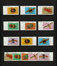 (YYAZ 656) Vietnam 1987 IMPERF + Perf NH Mi 1794 -00 Scott 1705 -11 Insects
