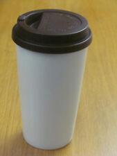 Kaffeebecher Coffee to go Porzellan Weiß - Braun