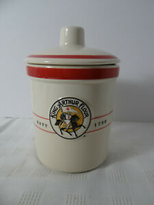 King Arthur Flour Stoneware Sourdough Crock/Canister with Lid 1 Quart