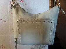 Stone Mountain Crossbody/messenger beige leather Handbag purse