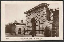 Postcard Woolwich in Greenwich London military Cambridge Barracks early RP WHS