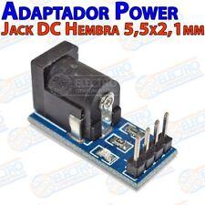 Modulo Adaptador Jack DC Hembra 5,5mm x 2,1mm a Dupont 2,54mm Arduino 5.5 2.1