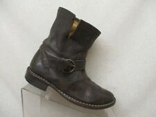 Fiorentini + Baker Brown Leather Buckle Mid Calf Boots Size 36