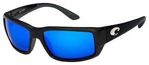 Costa Del Mar Fantail Sunglasses TF-11-EBMGLP Black | Blue Mirror 580G Polarized