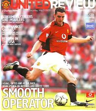 MANCHESTER UNITED v CHARLTON ATHLETIC 3 MAY 2003 WORTHINGTON CUP EXC COND.