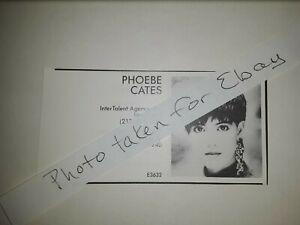 Phoebe Cates Original 1980s actors casting ad