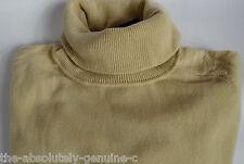 AQUASCUTUM Ladies Cowl Roll Neck 100% CASHMERE Jumper Sweater sz XL BEIGE BNWT